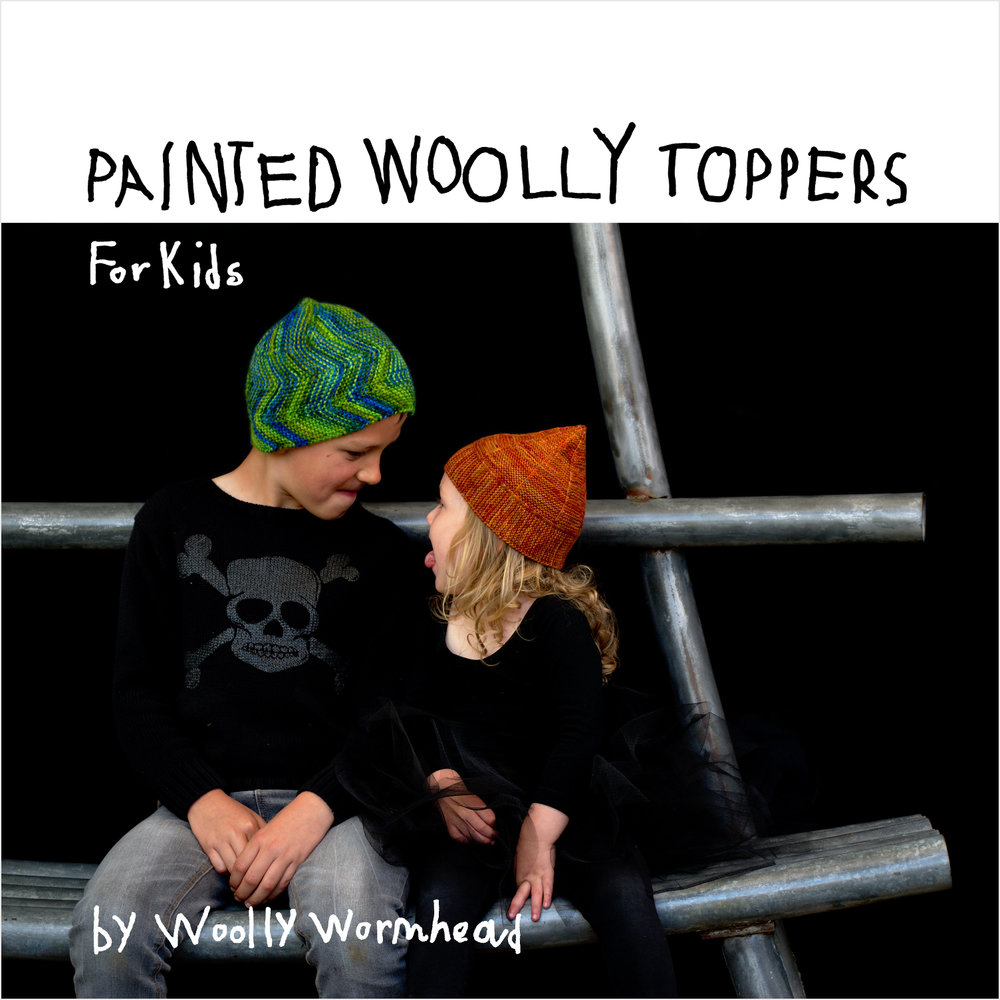 Painted Woolly Toppers for Kids - collection of 10 Hat designs