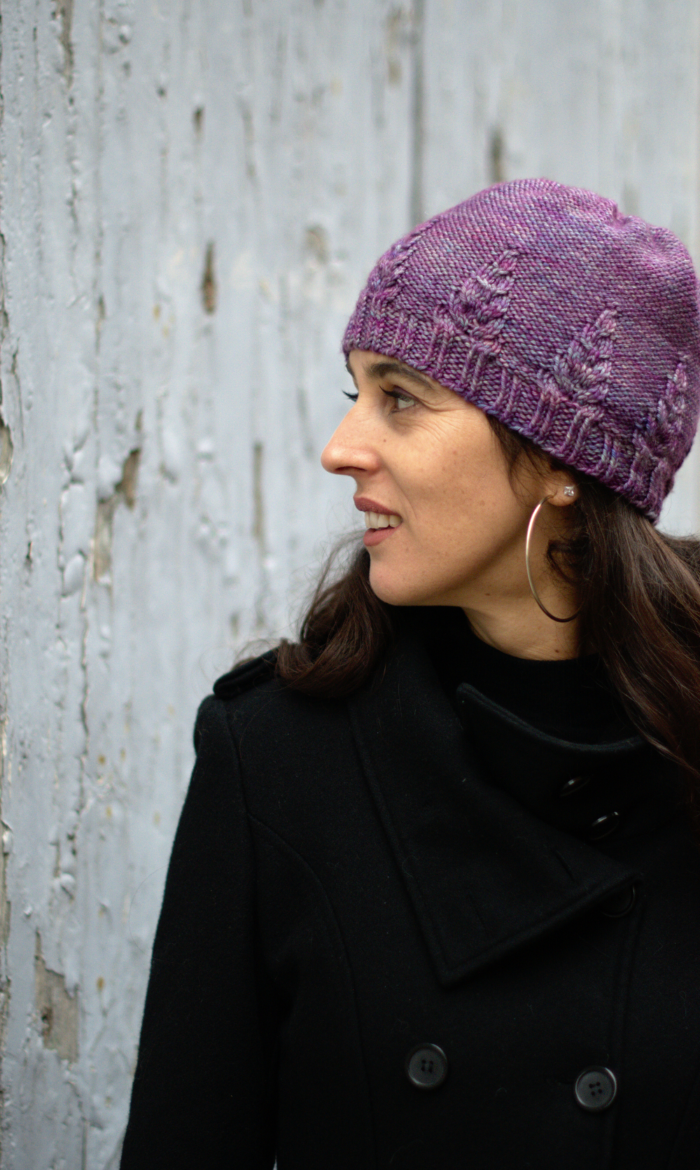 Armley Slouchy Hat hand knitting pattern for DK weight yarn