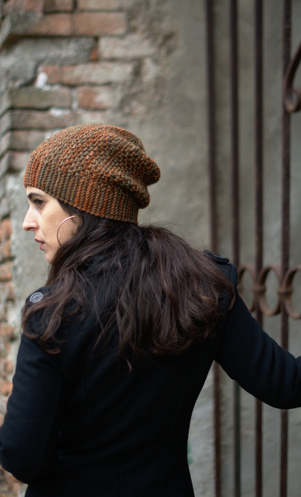 Muratura sideways knit slouchy Hat knitting pattern