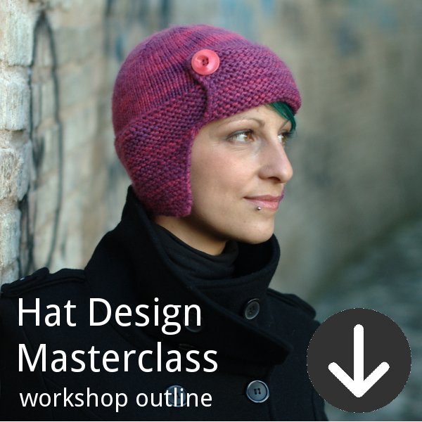 Workshop outline for Woolly Wormhead's Hat Design Masterclass class