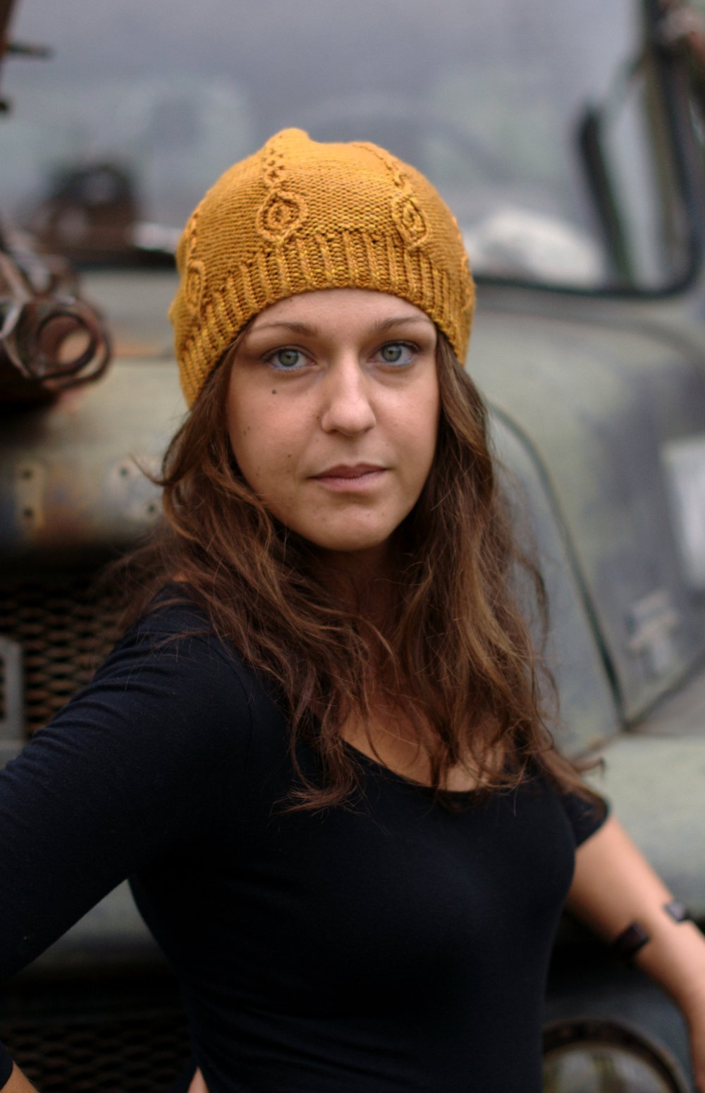 Tangled River slouchy Hat hand knitting pattern
