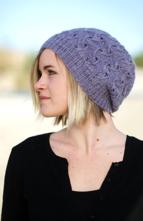 Hat Knitting Patterns Featuring Lace Eyelet Or Dropped Stitch