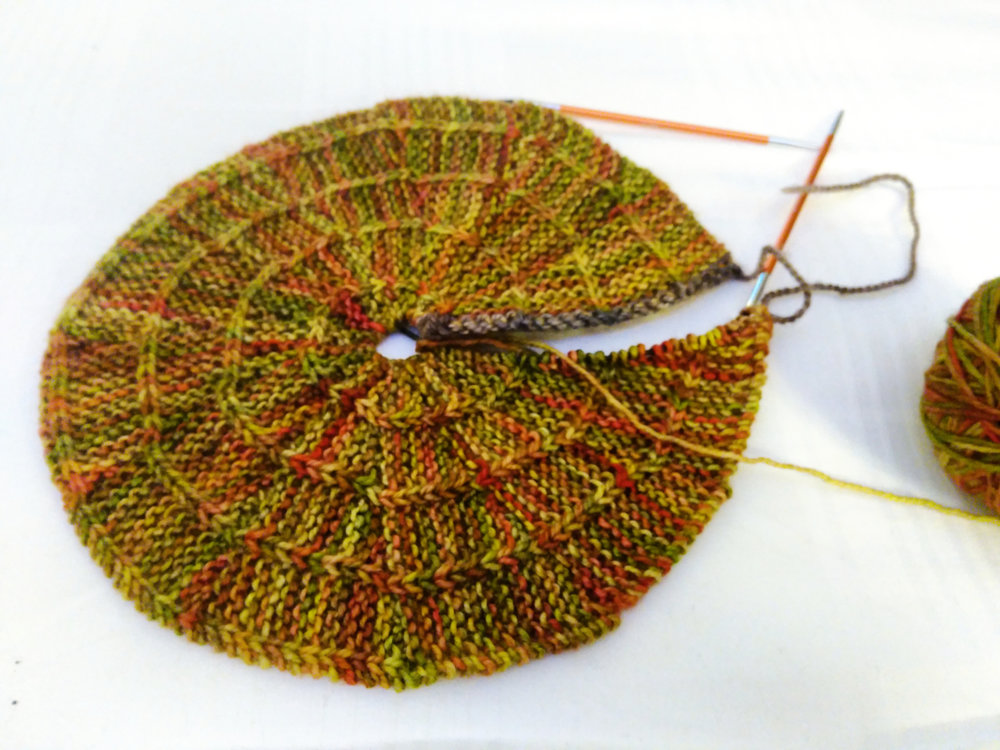 slipped stitch spiral swatch