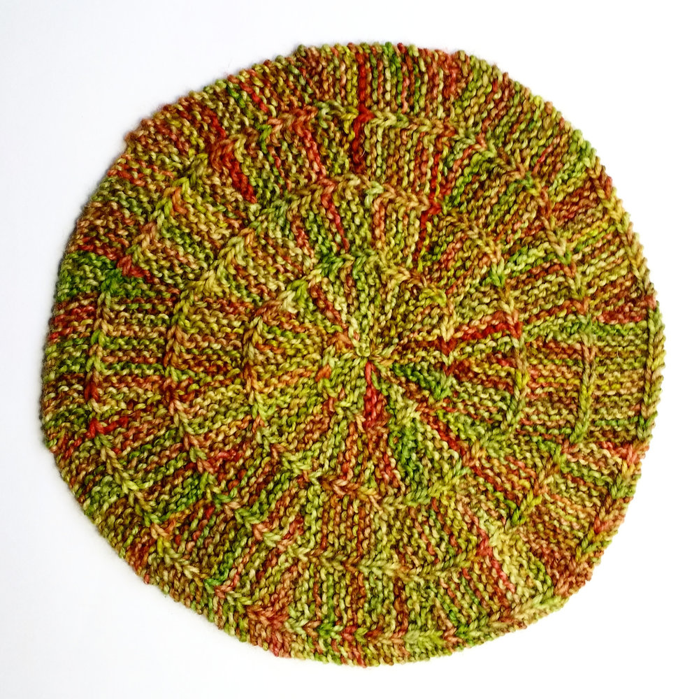 grafted slipped stitch spiral swatch!