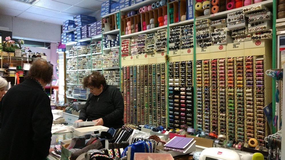 She has an amazing selection of buttons and threads and I'm planning to stock up on decent sewing threads in the next couple of weeks, assuming I'm not too late.