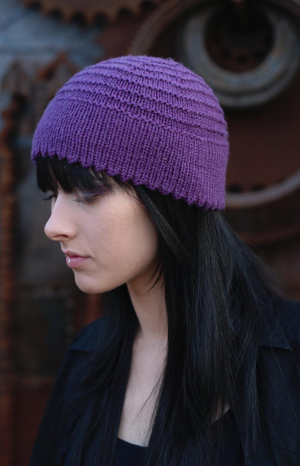 Ridgeway beret and beanie hand knitting pattern