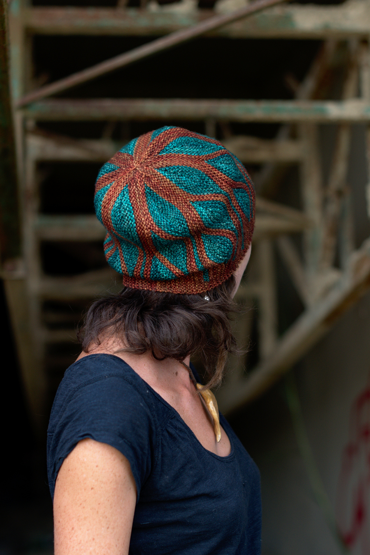85917e6c94d Toph sideways knit short row colourwork hat knitting pattern