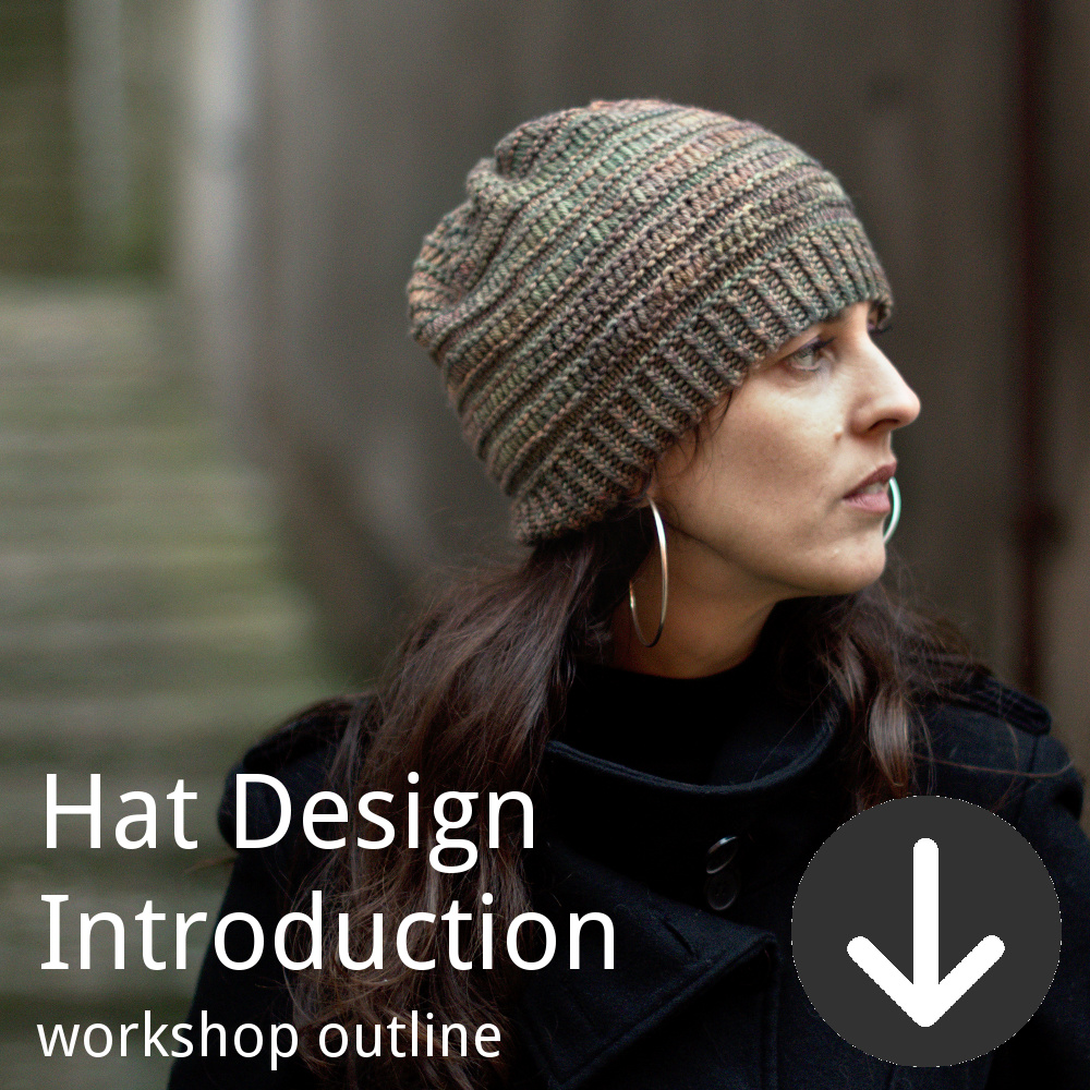 Workshop outline for Woolly Wormhead's Introduction to Hat Design class