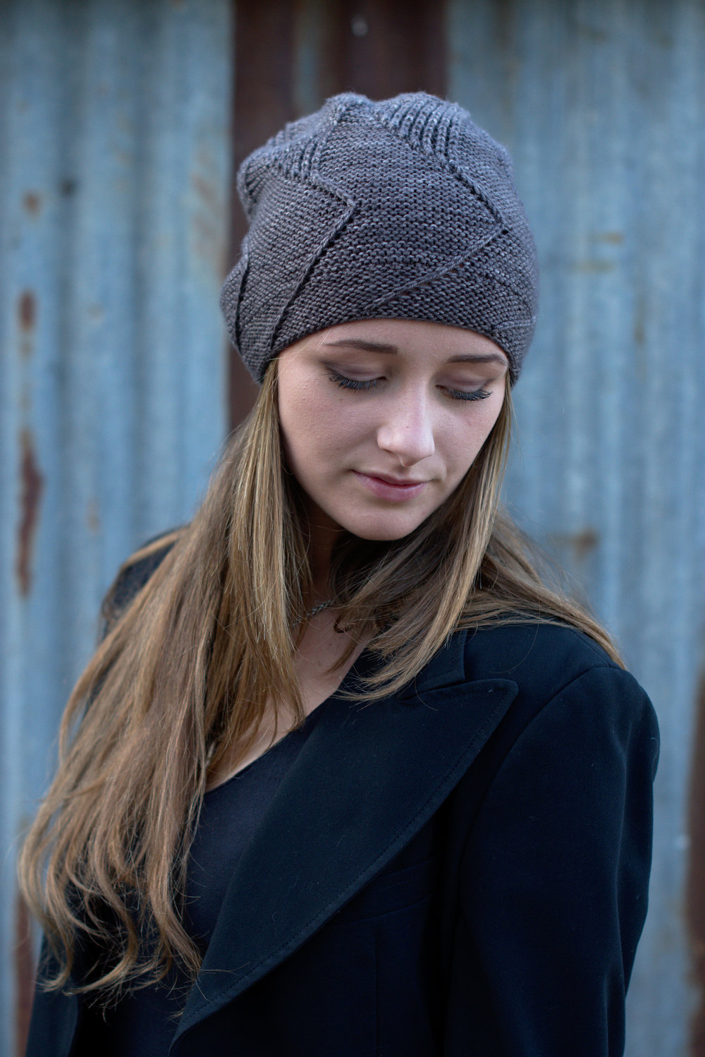 Sette Vele top down slouchy Hat hand knitting pattern