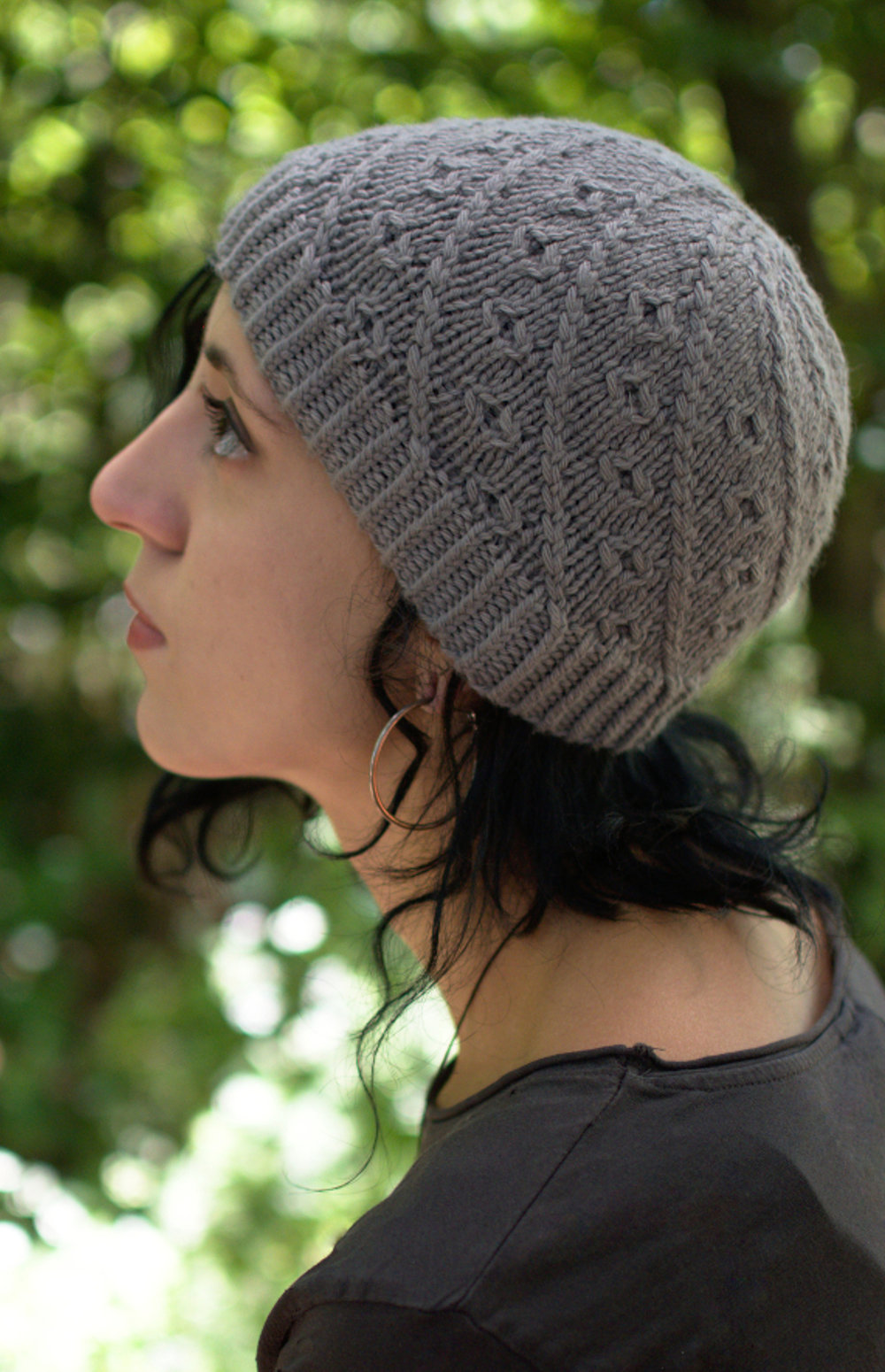 Pebbles hand knitting Hat pattern for beanie and slouch