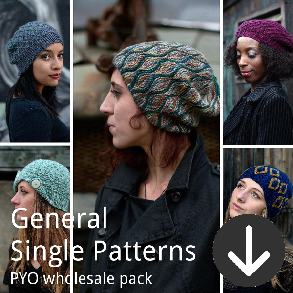 print your own wholesale pack from Woolly Wormhead for general single patterns