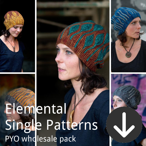 print your own wholesale pack from Woolly Wormhead for elemental single patterns