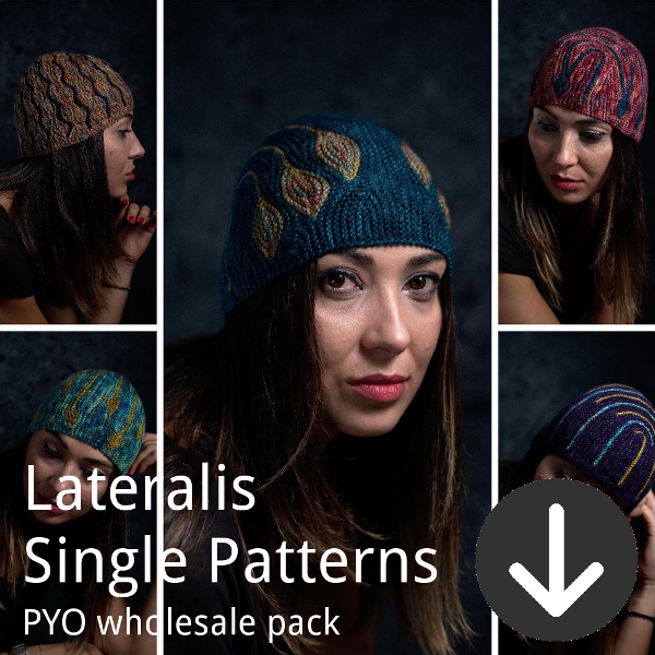 print your own wholesale pack from Woolly Wormhead for Lateralis single patterns