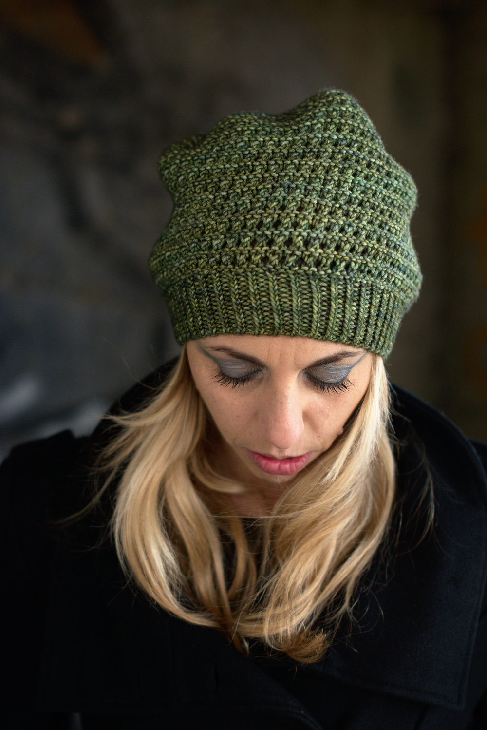 8238f3e896e Waffle Slouch Hat hand knitting pattern for worsted — Woolly Wormhead
