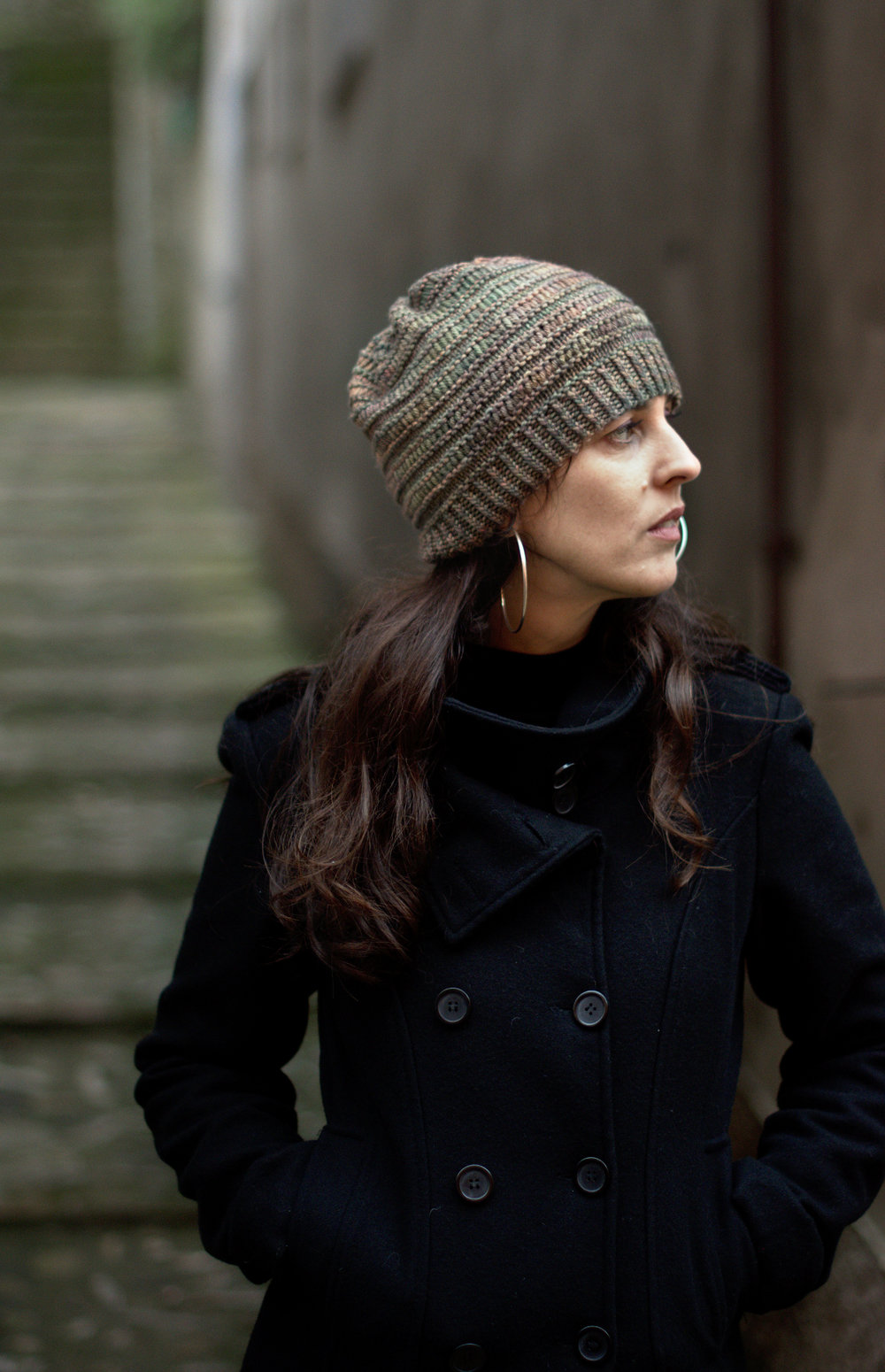 ebaa11a926a DS Slouch hand knitting pattern for slouch Hat for hand-dyed worsted weight  yarn