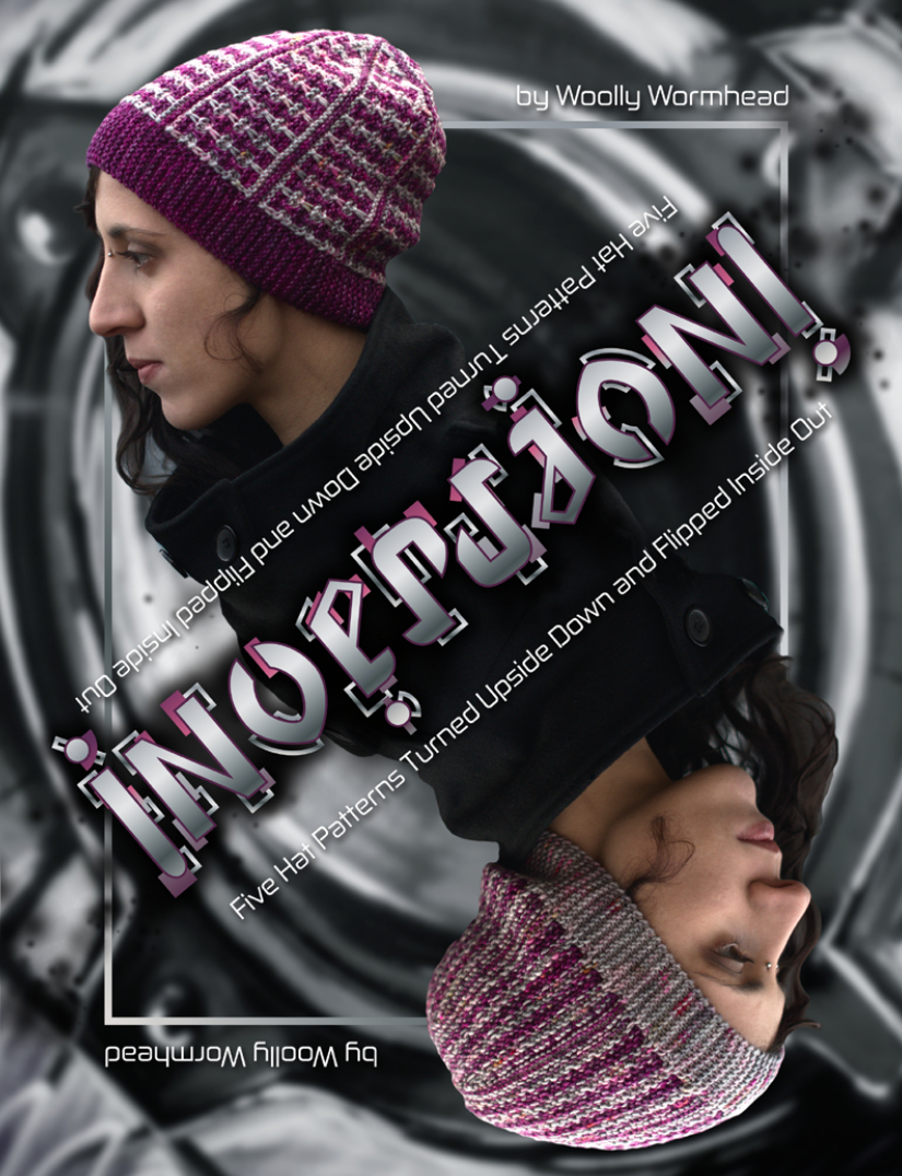 Inversion eBook - 5 sideways knit Hats featuring surface manipulation