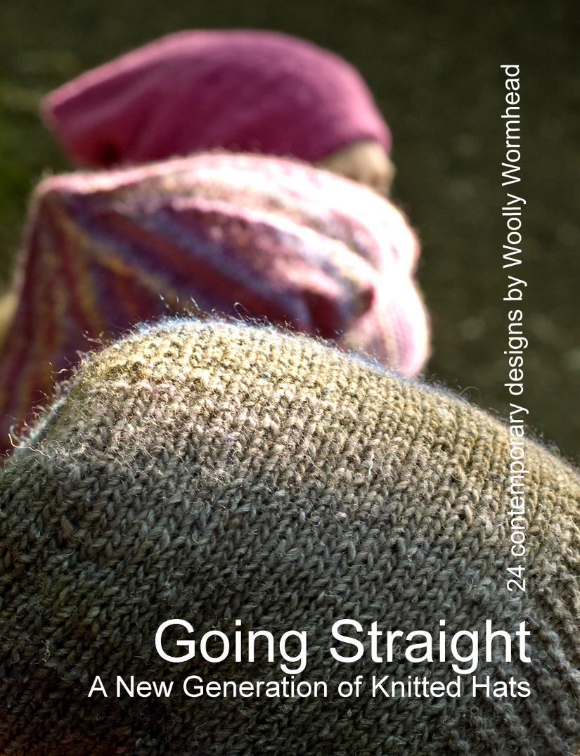 Going Straight eBook featuring 24 sideways knit hats
