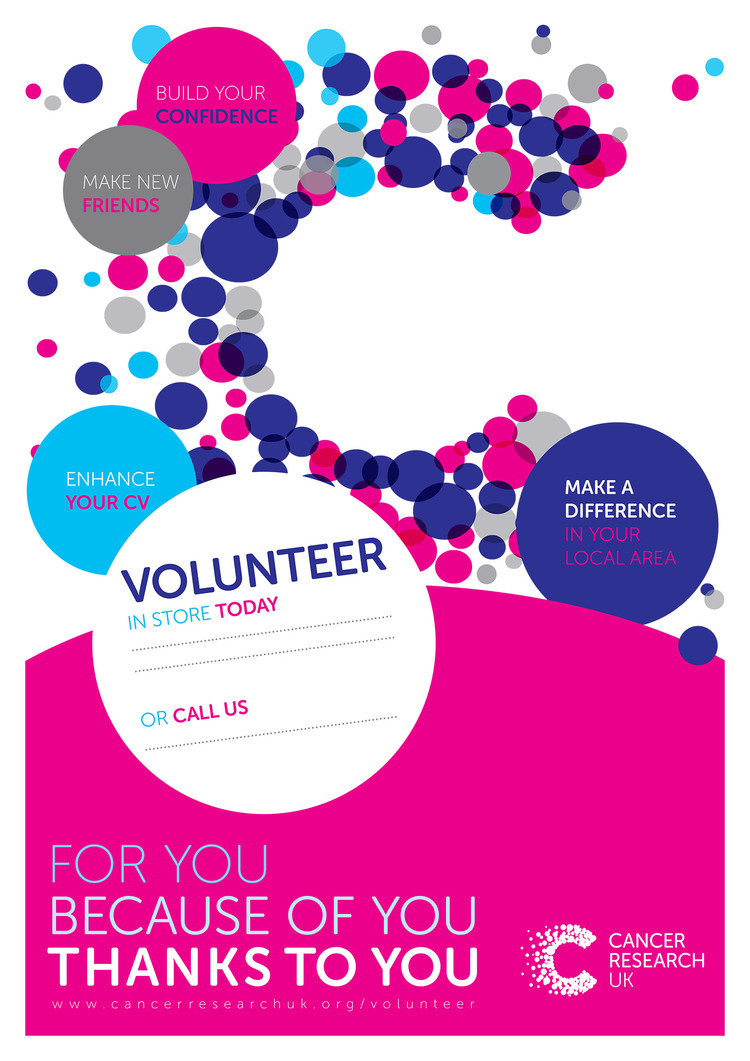 Image result for CRUK volunteer poster
