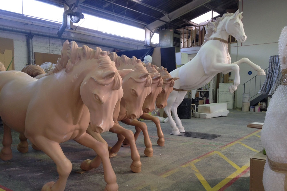 Horses, sculpts, manufacture, harrods, window display - perhaps use this before the shot you've already got of them painted glossed to show evolution.JPG