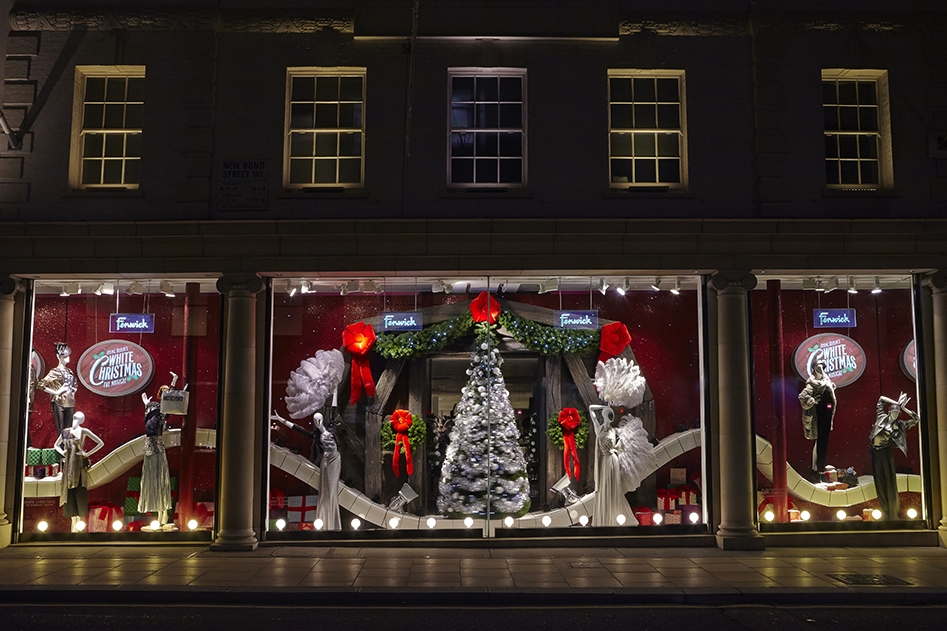 Events & Promotions, Fenwicks, White Christmas,  Irving Berlin's White Christmas musical, Fenwick Bond Street, Retail Design, Props, Sculpts, VM, Visual Merchandising