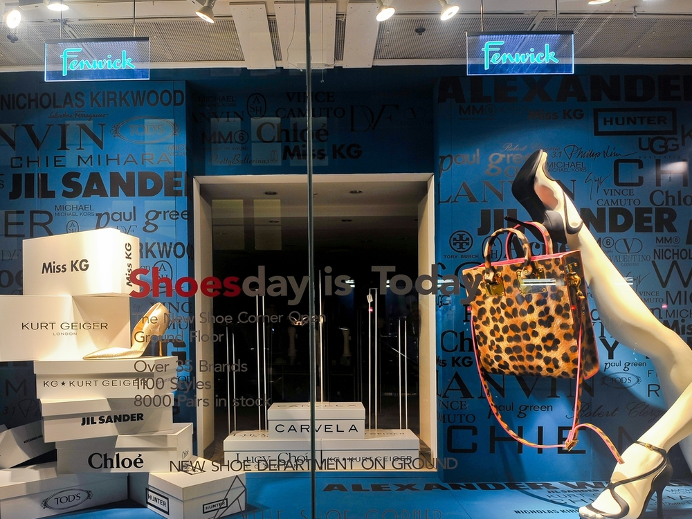 SHOE DEPARTMENT WINDOWS - FENWICK BOND STREET   June 2014