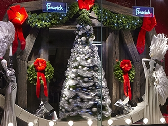 WHITE CHRISTMAS WINDOWS - FENWICK BOND STREET   November 2014