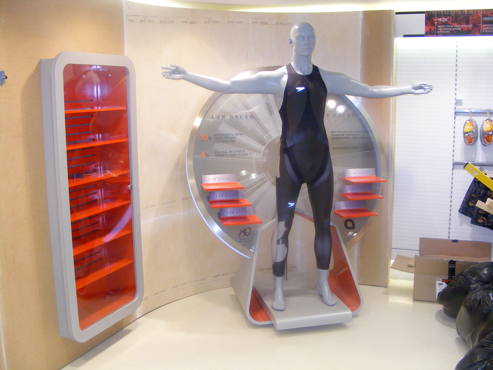 OLYMPIC SUIT DISPLAY - SPEEDO   April 2009
