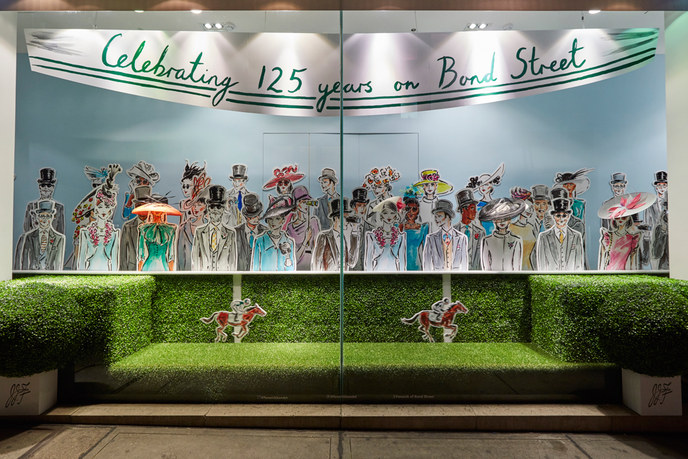 ASCOT & 125TH BIRTHDAY- FENWICK BOND STREET    May 2016