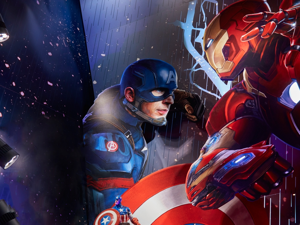 CAPTAIN AMERICA, CIVIL WAR - DISNEY STORE    June 2016