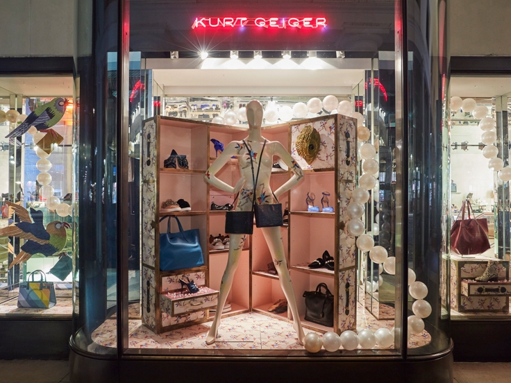 SPRING/ SUMMER INSPIRED DISPLAY - KURT GEIGER MULTIPLE    February 2017