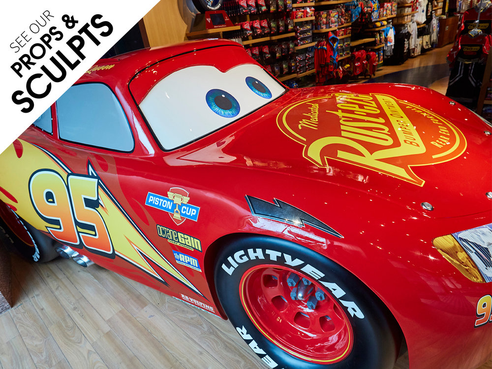 Props and Sculpts, Propability,Disney,Cars 3, Lightening McQueen