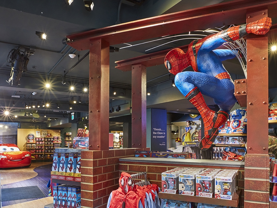 Propability, Disney Store, Spiderman, Spiderman Homecoming, Prop & Scenic Painting, Retail, Retail Design.jpg