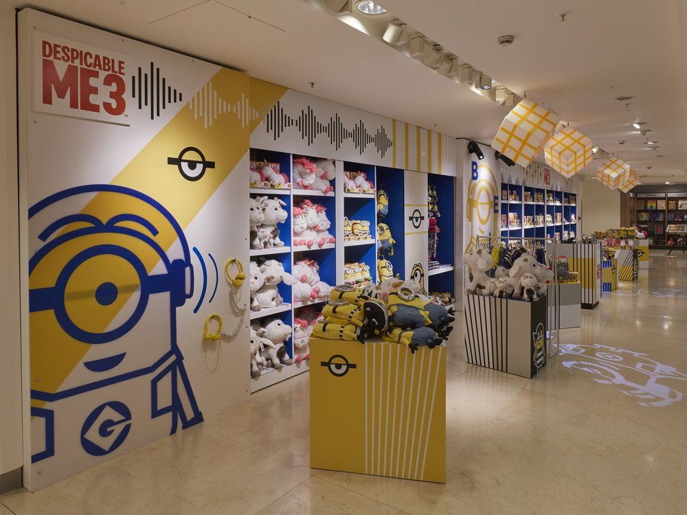 Propability, Oakwood, Selfridges, Despicable Me 3, Minions, Retail Design, Toys.jpg