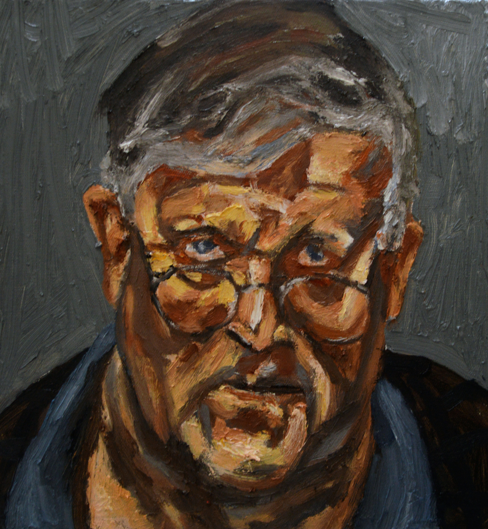 Sir David Hockney (After Freud)