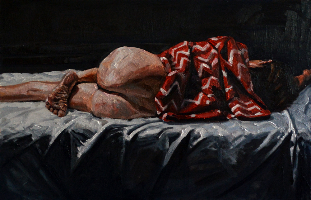Girl With a Red Blanket