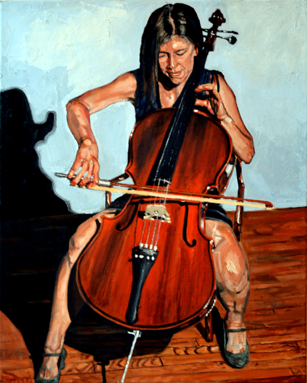 Tanya Playing the Cello