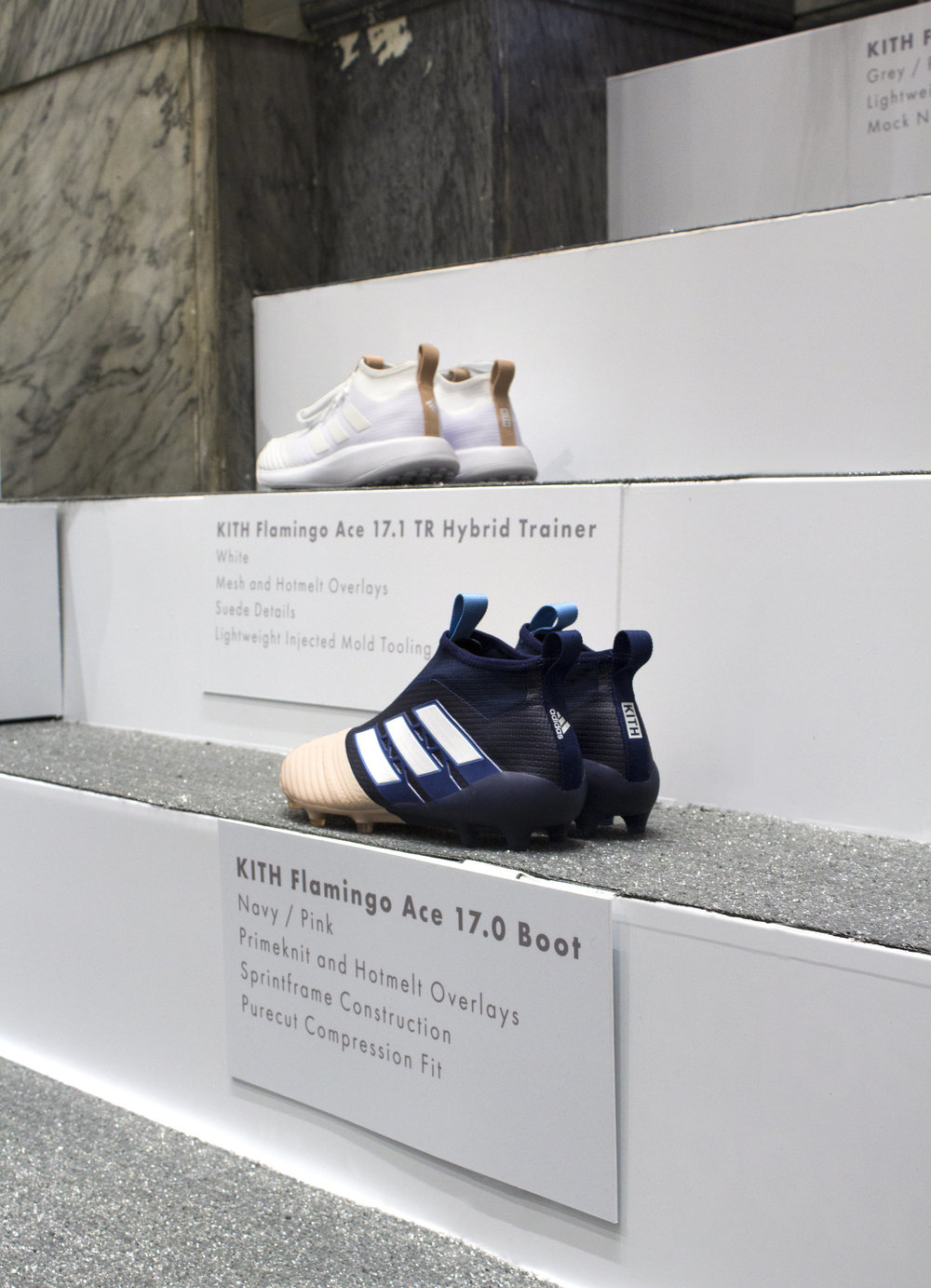 Kith's biggest initiative for 2016, the Adidas Soccer collaboration.  -  We brought to life the custom product with a rivalry story that highlighted the two imaginary teams that inspired the collection. Before we had even finished installing the lines stretched 5 blocks, with one off the largest turn outs in Kith history. All product sold out within hours of opening.