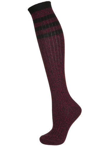 Top Shop Pink Marl Rib Knee Socks