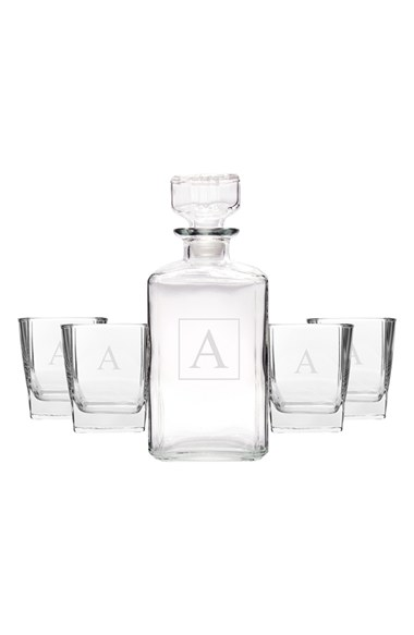 CATHY'S CONCEPTS Personalized Five-Piece Decanter Set