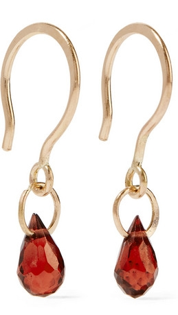 MELISSA JOY MANNING  14-karat gold garnet earrings $190