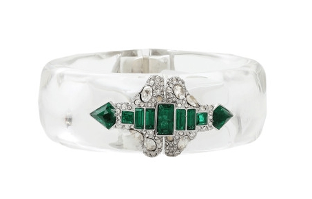Alexis Bittar  Green Crystal Deco Emerald Stacked Bracelet $375 From  Marissa Collections