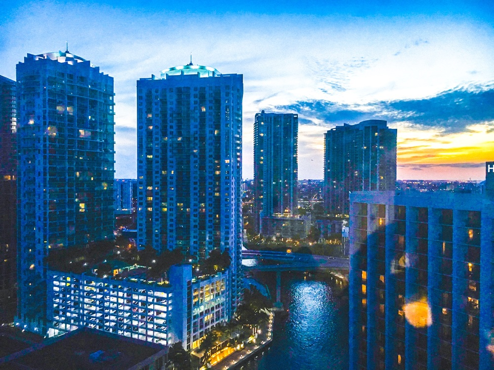 View from Epic hotel in Brickell, Miami. by Nneya Richards