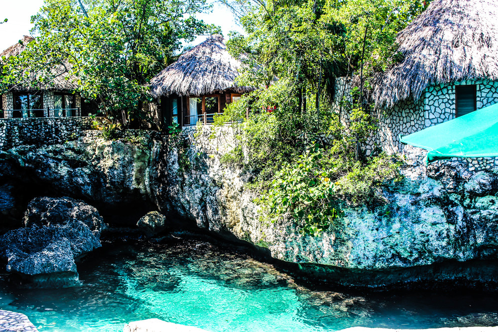 Villas in Rockhouse, Negril, Jamaica. by Nneya Richards