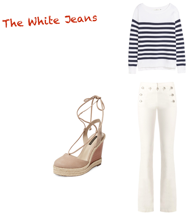 jeans,  Veronica Beard  $395. top,  H&M  $34.99. shoes,  Rory  $79.