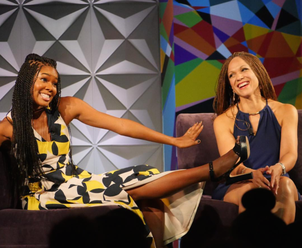 "Gabrielle Union and Melissa Harris-Perry for ""Genius Talks"""
