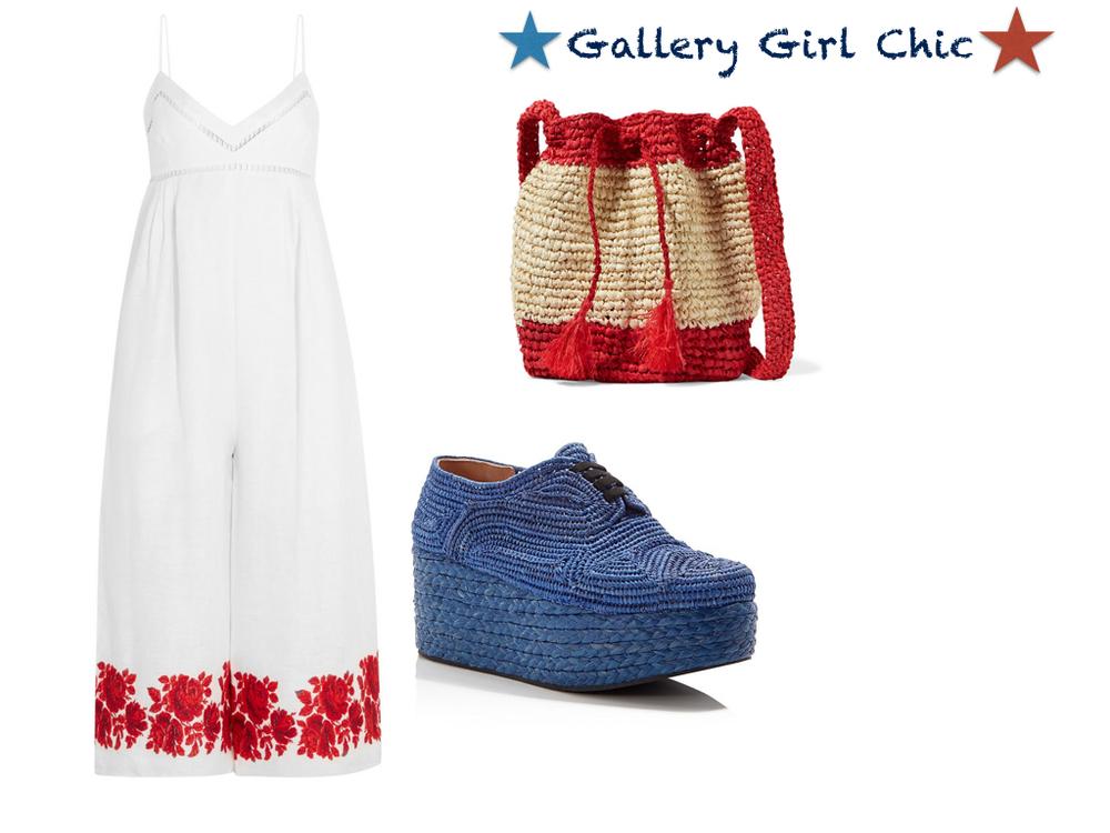 jumpsuit,  Zimmerman  $530 | shoes,  Robert Cleregie  $385 | bag,  Antik  $69