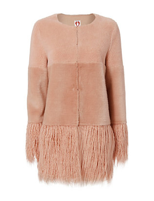Shrimps Porgie Faux Fur Coat, $525