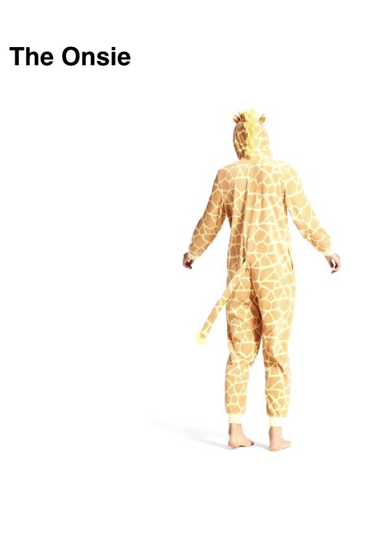 giraffe onesie, Target, $20