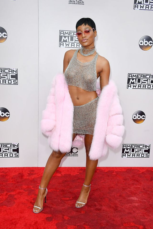 Keke Palmer giving us throwback Lil' Kim in Natalia Fedner.