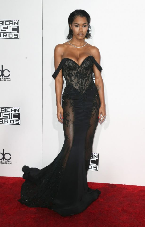 As star of Kanye West's 'Faded' we know Teyana Taylor's fabulous figure would look great in just about anything. She stuns in Steven Khalil.